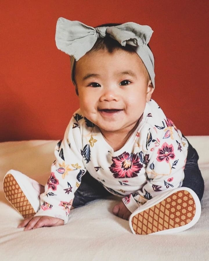 Flower combinations in baby girl clothes 2020