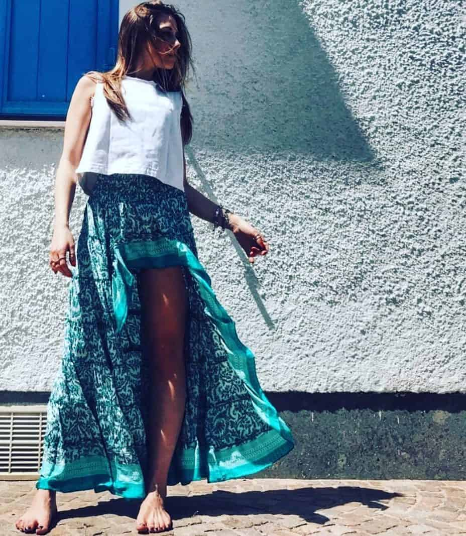 Asymmetrical long skirts 2020