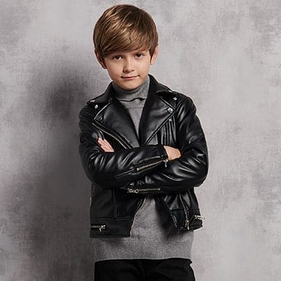Leather jacket designs in kids fashion 2022