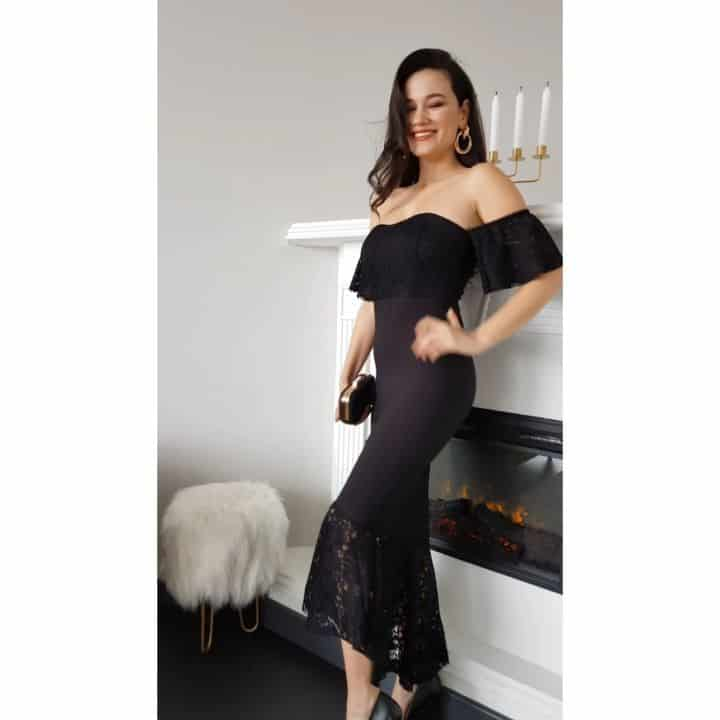 Elegant, stylish and sophisticated black color New years eve party dresses 2020