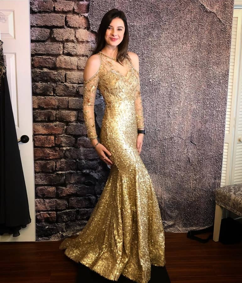 Golden hues of New Years eve party dresses 2020