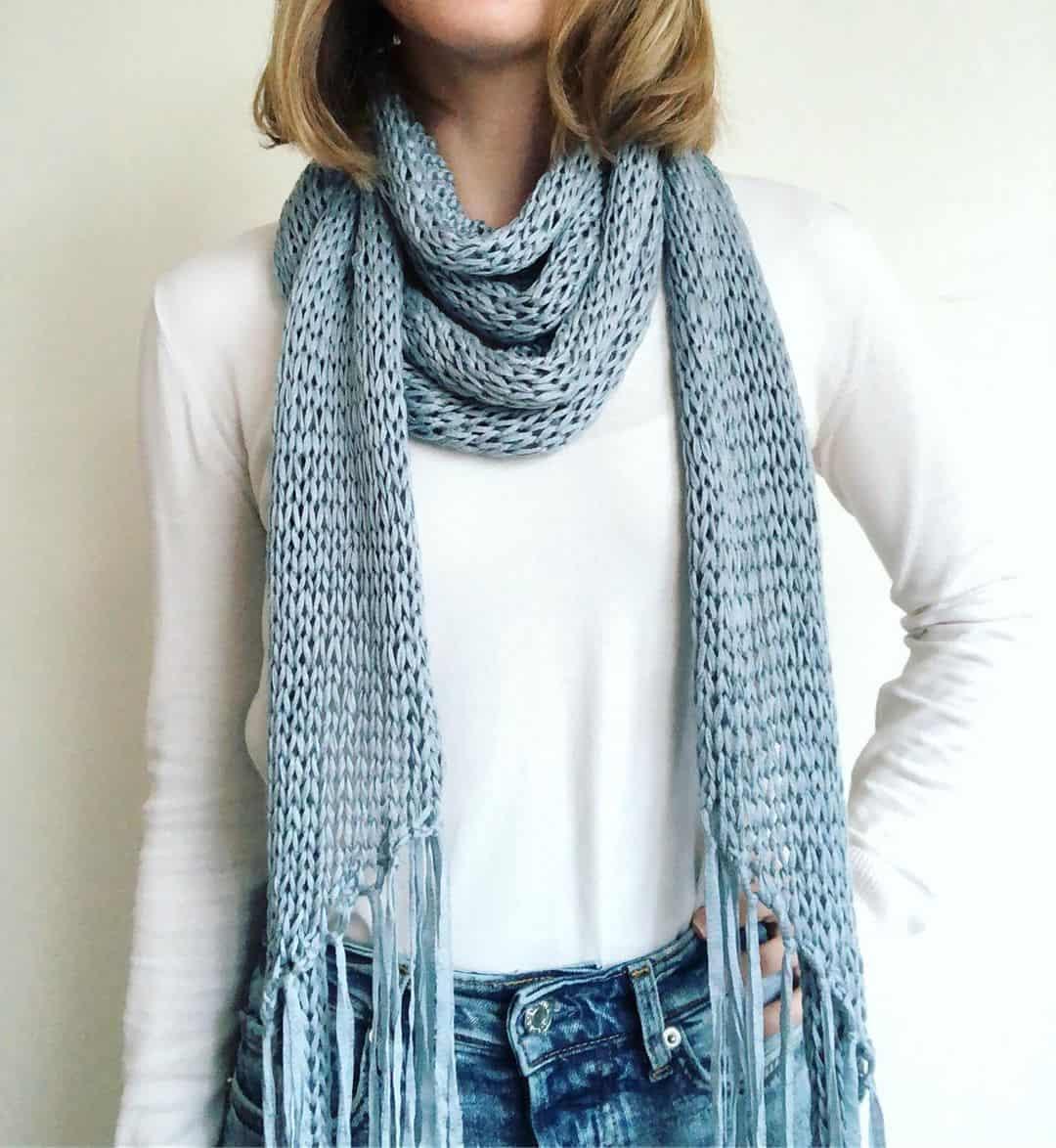 Fringe scarf fashion 2022