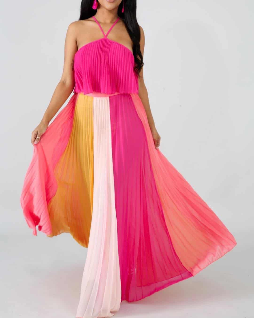 Pleated casual dresses 2020