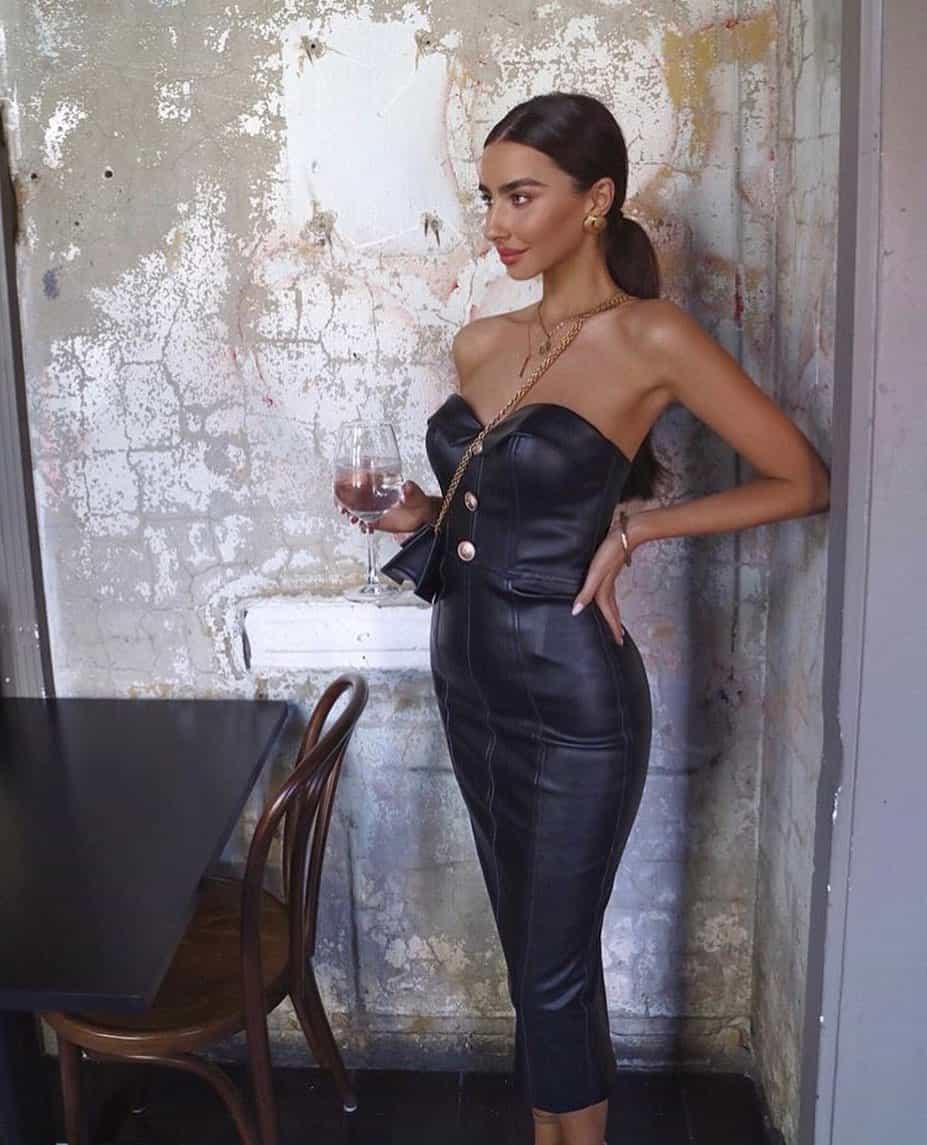 Leather formal dresses 2020